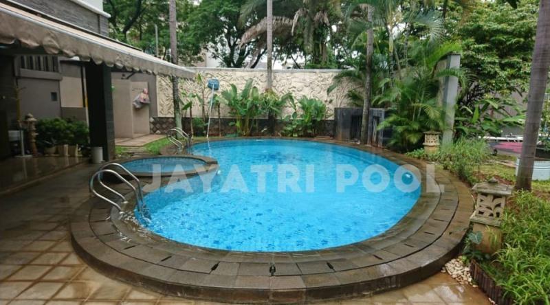 kolam renang klien yang dibuat oleh jayatri pool